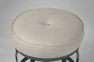 Zentique Recycled Metal Round Stool