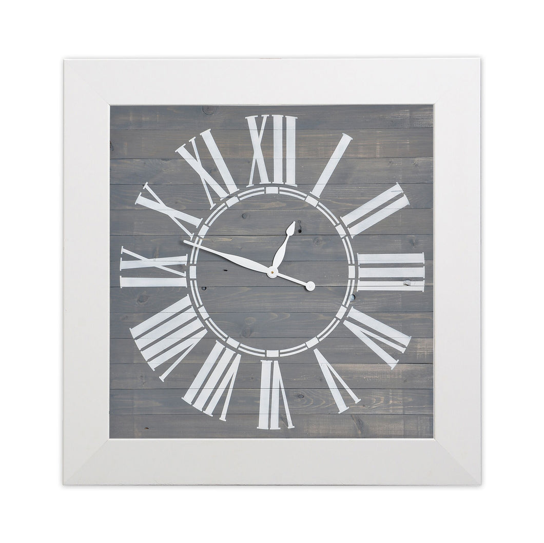 Modern Rustic Oversized Wall Clock