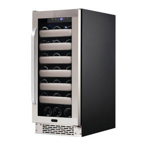Whynter Elite 33 Bottle Seamless Stainless Steel Door Single Zone Built-in Wine Refrigerator