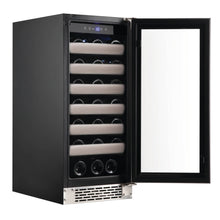 Load image into Gallery viewer, Whynter Elite 33 Bottle Seamless Stainless Steel Door Single Zone Built-in Wine Refrigerator