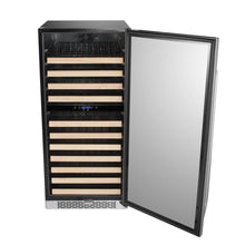 Load image into Gallery viewer, Whynter 92 Bottle Built-in Stainless Steel Dual Zone Compressor Wine Refrigerator with Display Rack and LED display