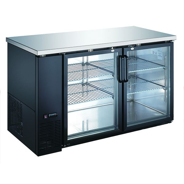 Admiral Craft U-Star Glass Door Back Bar Cooler - 28