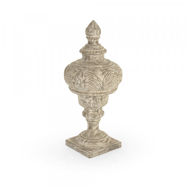 Zentique Victory Wooden Urn (Antique White)