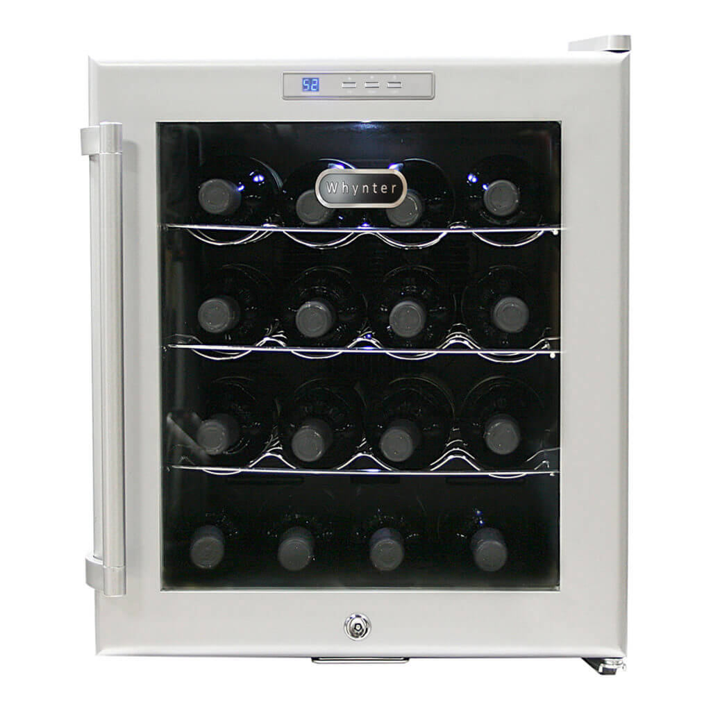 WHYNTER SNO 16 Bottles Wine Cooler - Platinum with lock