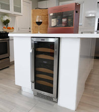 Load image into Gallery viewer, Whynter 28 bottle Dual Temperature Zone Built-In Wine Refrigerator