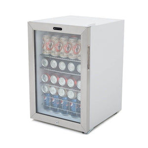 Whynter Beverage Refrigerator With Lock - Stainless Steel 90 Can Capacity