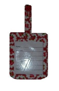 Red Roses Luggage Identity Bag Tag
