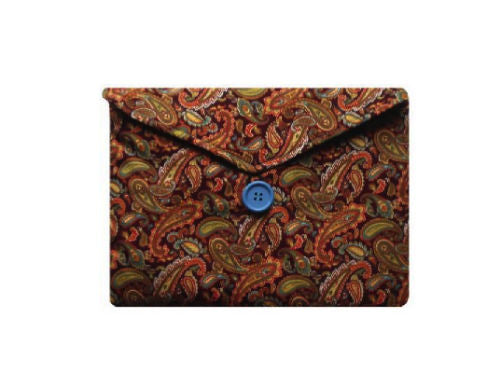 Beige Paisley Print Tablet Bag - Miss Pretty London UK Limited