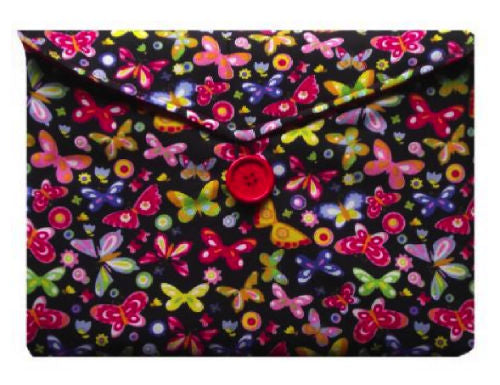 Multicoloured Butterfly Print Tablet Bag - Miss Pretty London UK Limited