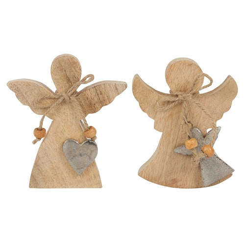 12CM WOODEN ANGEL SILHOUETTE ORNAMENT