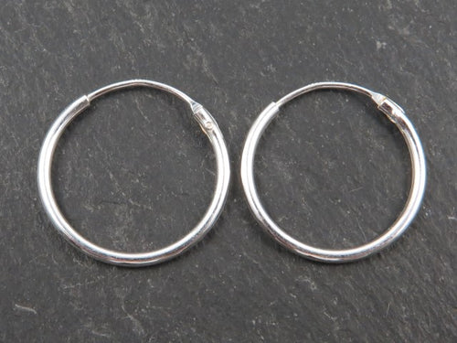 Sterling Silver Ear Hoop 16mm  - MPLH09