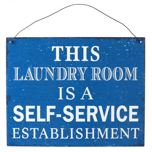 19 X 24CM LAUNDRY ROOM METAL SIGN