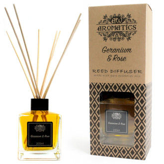 200ml Geranium & Rose Essential Oil Reed Diffuser