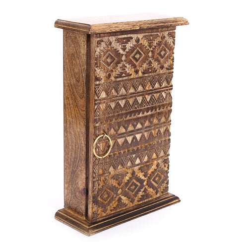 28CM KASBAH WOODEN KEY BOX