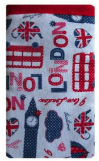 White_London_Print_Mobile_Phone_Sock_Pouch