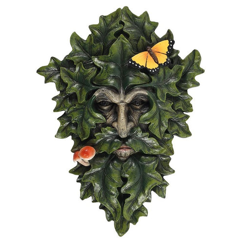 29x21cm Leafy Green Man Wall Plaque - Miss Pretty London UK Limited