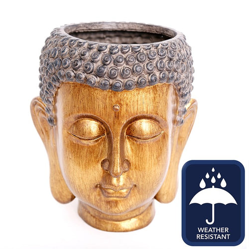 31CM BUDDHA HEAD PLANTER - Miss Pretty London UK Limited