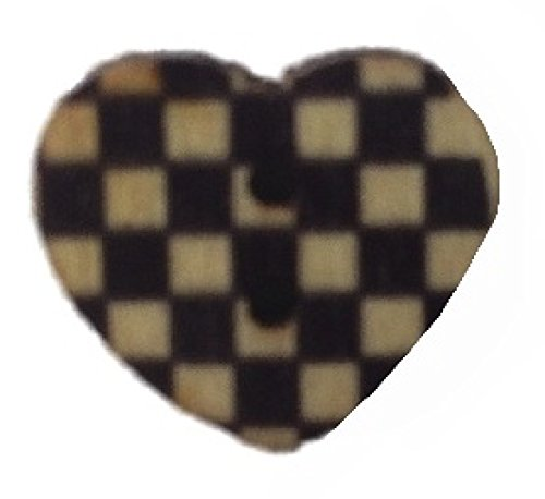 Navy_Gingham_Print_Wooden_Heart_Buttons_-_Pack_of_5