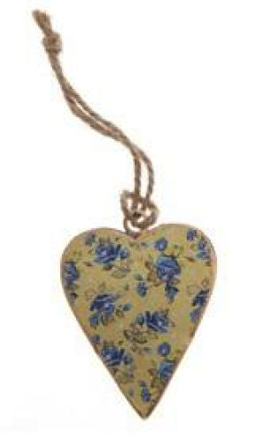 Yellow Hanging Heart Decoration - Miss Pretty London UK Limited