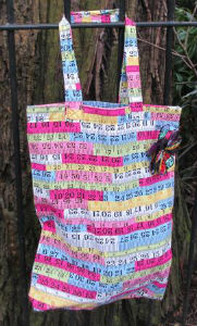 Tape Measure Print Shopping Bag - Miss Pretty London UK Limited