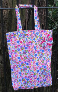 Flutterby Print Tote Shopping Bag - Miss Pretty London UK Limited