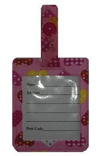 Pink Hearts Luggage Identity Bag Tag