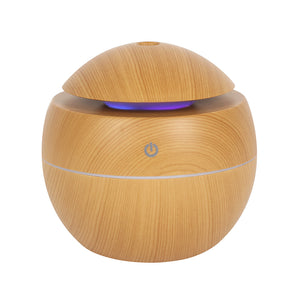 Small Round Wood Grain Aroma Diffuser - Miss Pretty London UK Limited