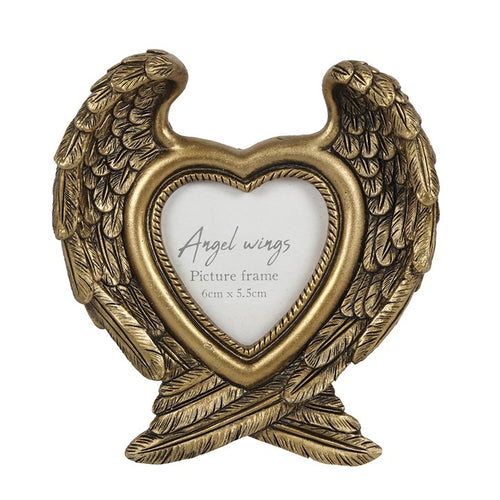 ANTIQUE GOLD ANGEL WING PHOTO FRAME - Miss Pretty London UK Limited