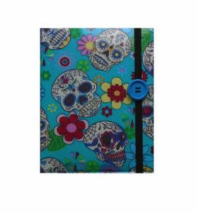 Aqua_Blue_Mexican_Skulls_Print_E-Reader_Case