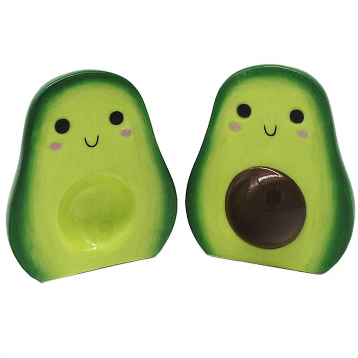 Avocado Ceramic Salt and Pepper Set - Miss Pretty London UK Limited
