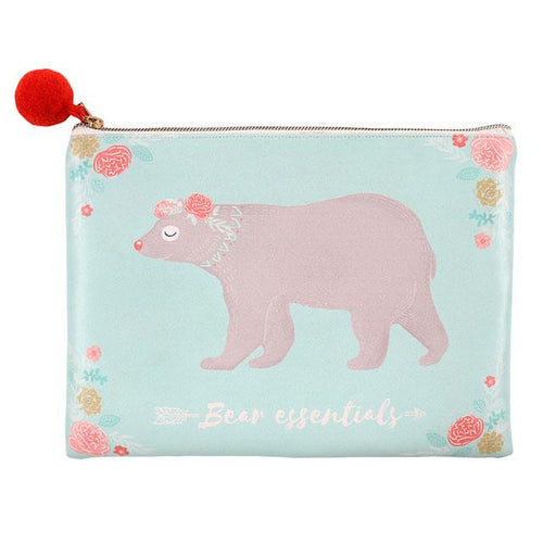 BEAR ESSENTIALS MAKEUP POUCH