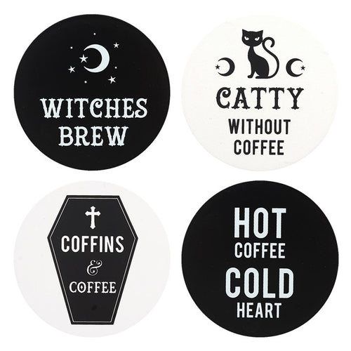 BLACK MAGIC WITCHY COASTERS - Miss Pretty London UK Limited