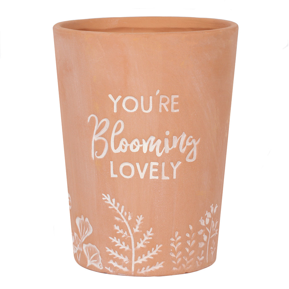 You're Blooming Lovely Terracotta Plant Pot