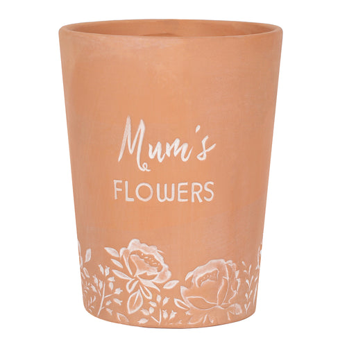 Mum's Flowers Terracotta Plant Pot - Miss Pretty London UK Limited