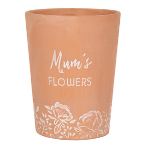 Mum's Flowers Terracotta Plant Pot