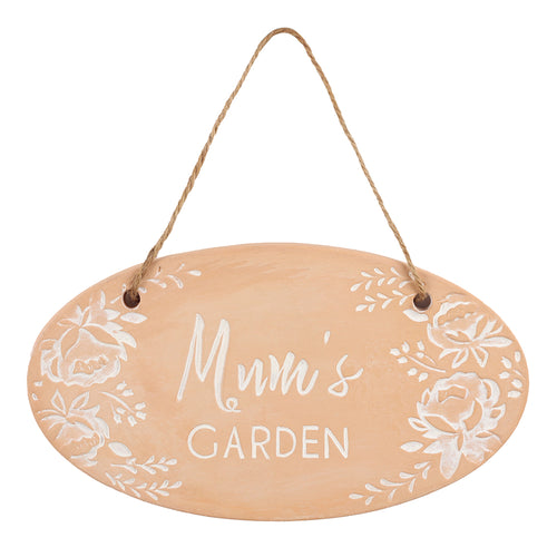 Mum's Garden Terracotta Plaque - Miss Pretty London UK Limited