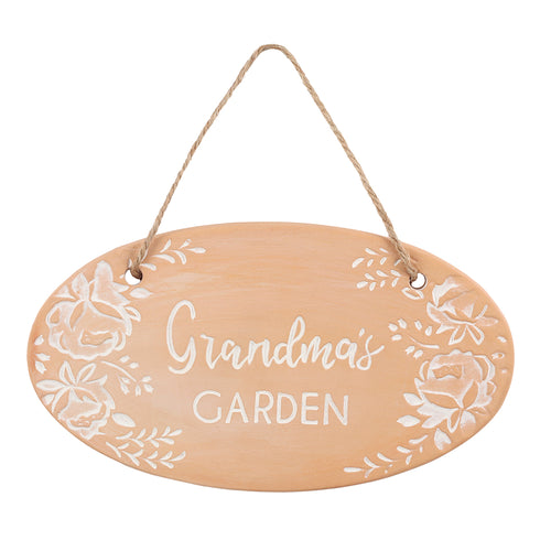 Grandma's Garden Terracotta Plaque - Miss Pretty London UK Limited