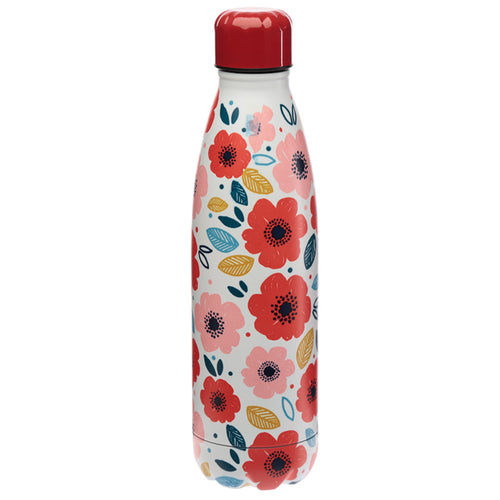 Poppy Fields Stainless Steel Insulated Drinks Bottle - Miss Pretty London UK Limited