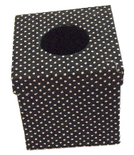 Black Polka Dot Print Tissue Box