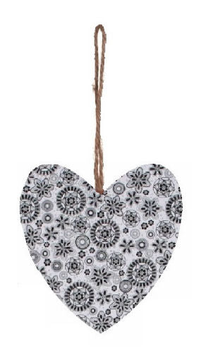Black_and_White_Retro_Print_Plump_Fabric_Hanging_Heart