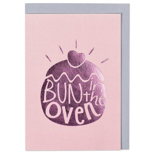 Bun in the oven Greeting Card - RBL003 - Miss Pretty London UK Limited