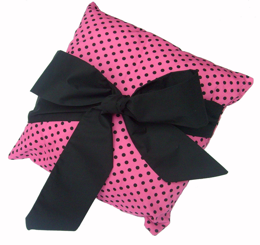 Cerise_Pink_Polka_Dot_Cushion