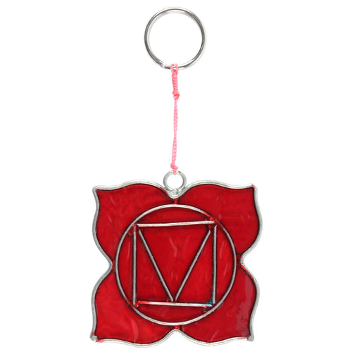 Root Chakra Symbol Mini Suncatcher - Miss Pretty London UK Limited