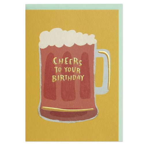 Cheers to your Birthday Greeting Card - RBL015 - Miss Pretty London UK Limited