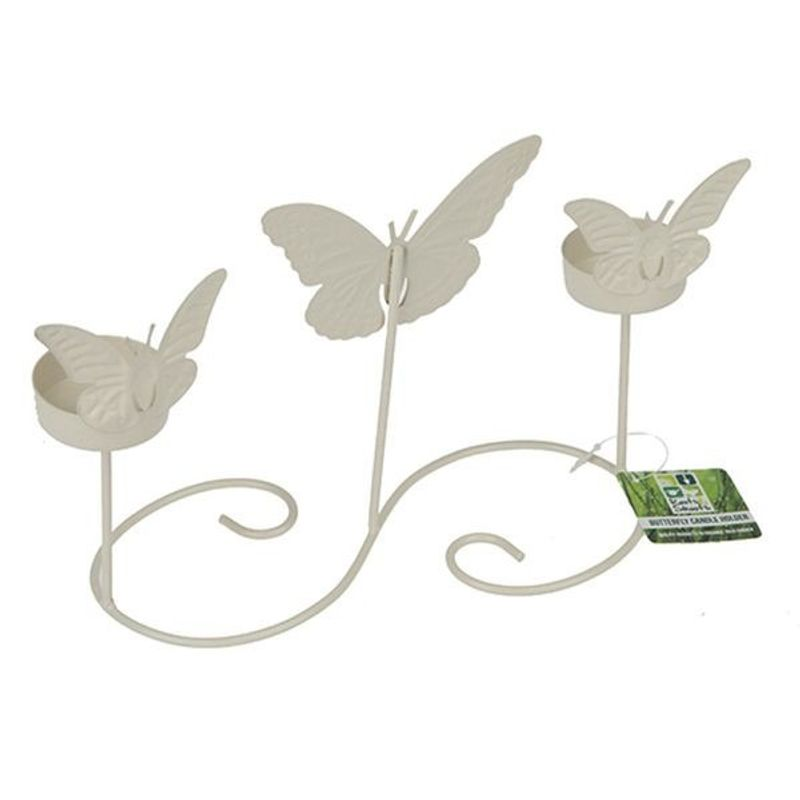 Cream Table Butterfly Garden Candle Holder - Miss Pretty London UK Limited