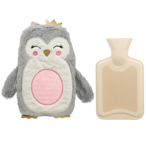 Cute Christmas Penguin 1L Hot Water Bottle and Cover