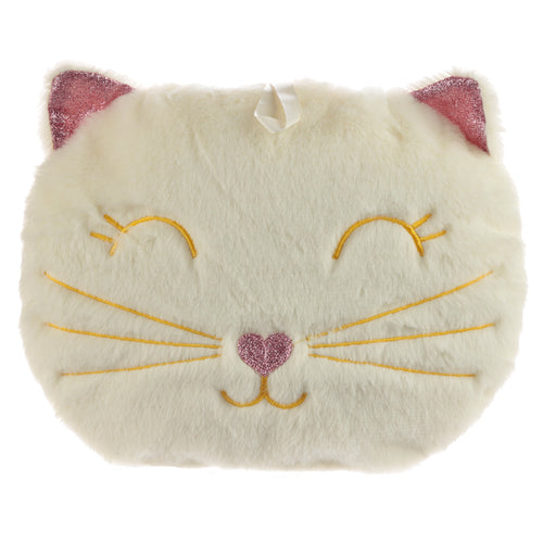 Cute Feline Festive Cat 400ml Hot Water Bottle and Cover