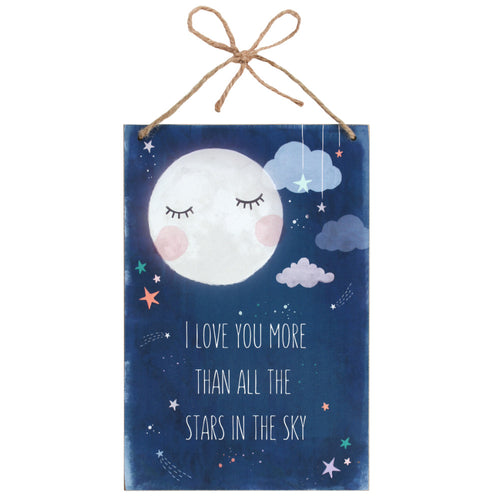 I Love You More Hanging Plaque