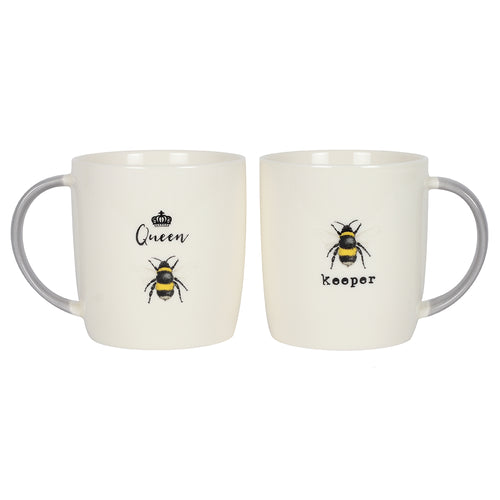 Queen Bee and Bee Keeper Mug Set - Miss Pretty London UK Limited