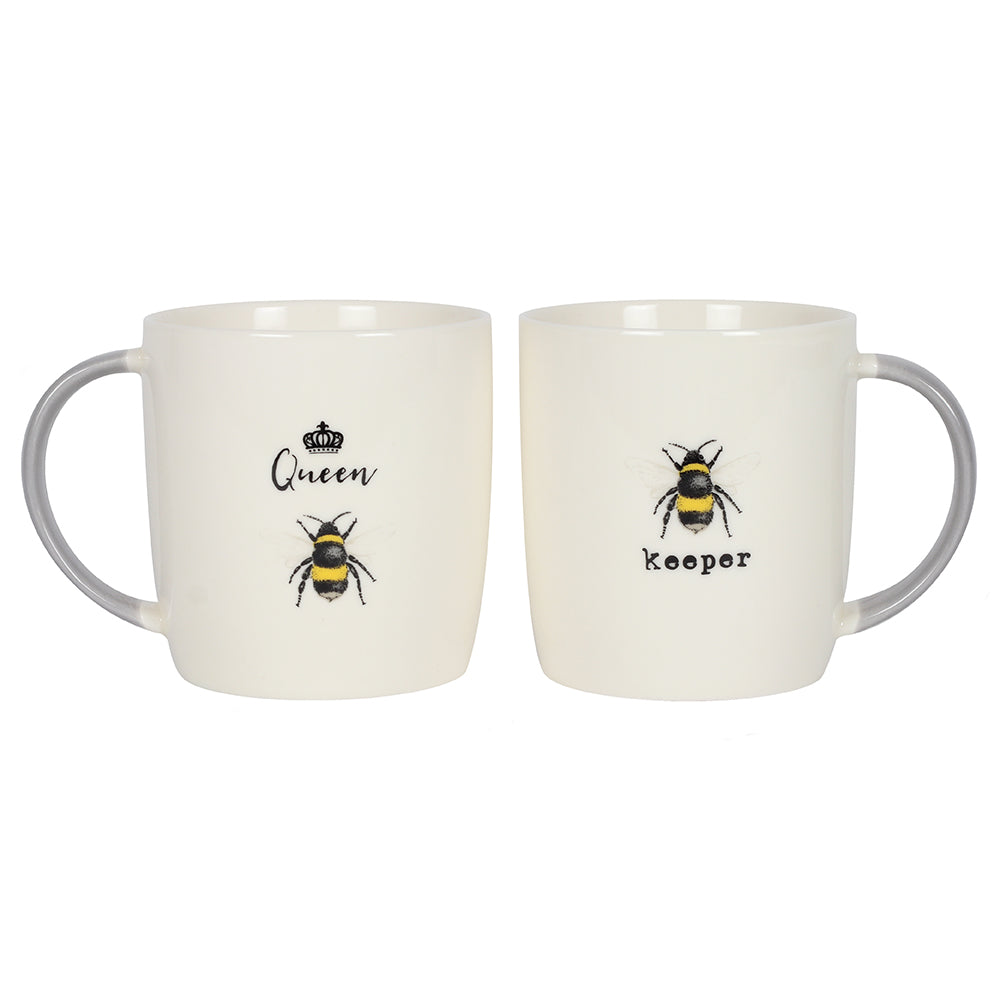 Queen Bee and Bee Keeper Mug Set